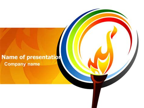 Olympic Fire Presentation Template For Powerpoint And Olympic Ppt
