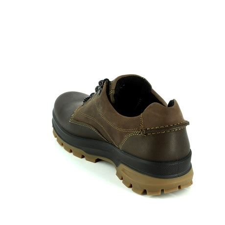 ecco rugged 838034 56098 brown waxy casual shoes