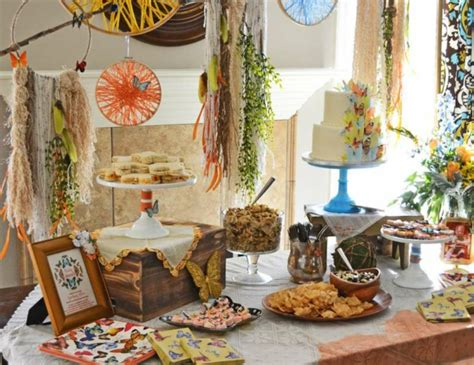 Vintage Boho Home Decor by Estilo Boho Chic Para Decorar Tu Fiesta Baby Shower