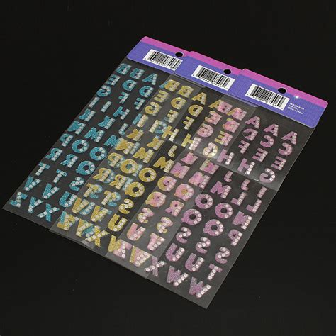 Buchstaben Aufkleber Glitzer by Alphabet Buchstaben Aufkleber Selbstklebend Kristall