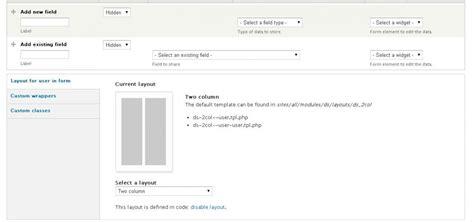 drupal theme node edit form drupal display suite two columns on user edit forms