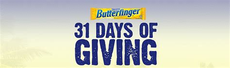 Butterfinger Sweepstakes - butterfinger 31 days of giving sweepstakes 2016