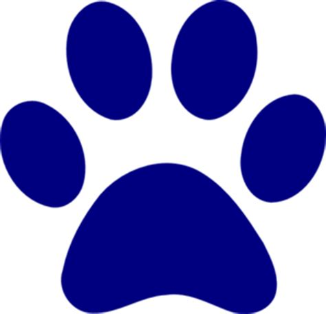 Navy Paw Print Clip by Panther Paw Clipart Clipart Suggest