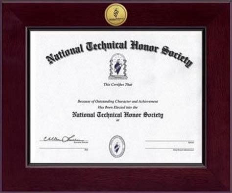 national honor society certificate template national technical honor society century gold engraved