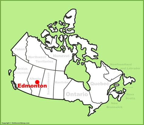 new on the map edmonton location on the canada map
