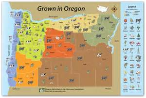grown in oregon map oregon agriculture in the classroom