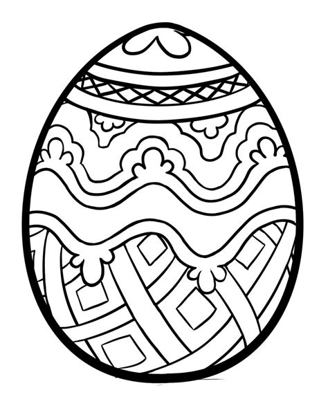 Cute easter egg coloring pages easter egg coloring pages and book