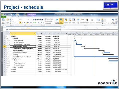 microsoft project schedule template