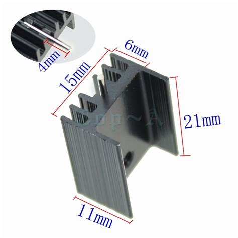 heatsink transistor 10pcs aluminium to 220 heatsink to 220 heat sink transistor radiator to220 cooler cooling 7805