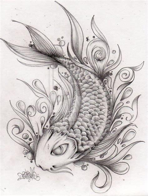 tattoo koi sketch fantastic koi fish tattoo drawing ink ideas pinterest