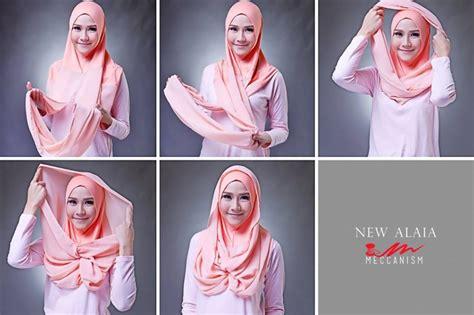 foto tutorial hijab pashmina simple kumpulan tutorial hijab modern pashmina kaos simple model baru