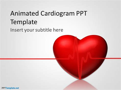 free powerpoint animation templates free animated cardiogram ppt template