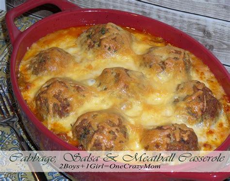 casserole recipes cabbage salsa meatball casserole recipe 2 boys 1 one