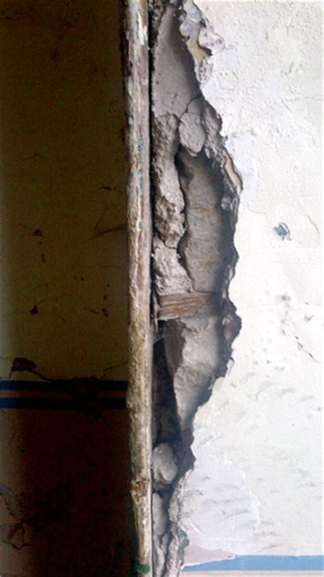 wooden corner beading stairwell plastering repair handy david
