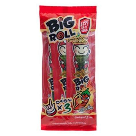 Big Roll Tao Kae Noi Spicy Grilled Squid Flavour 36gram tao kae noi big roll crispy grilled seaweed