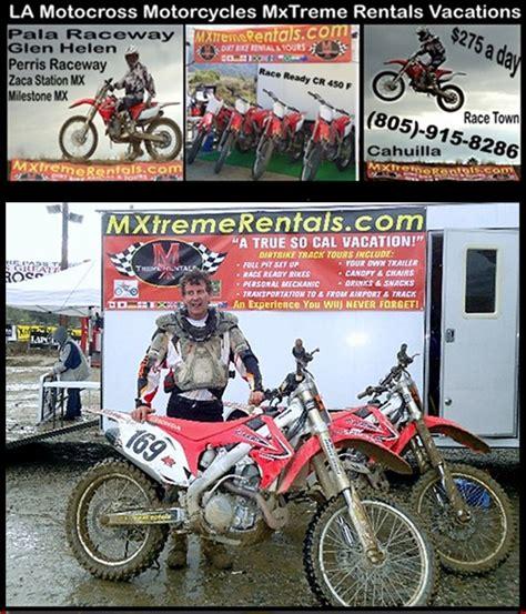 rent motocross bike uk enduro la los angeles motocross dirt bike vacation