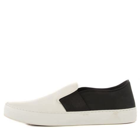 black leather slip on sneakers chanel leather slip on sneakers 37 5 white black 115418