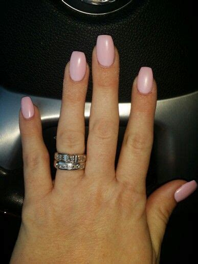 short coffin nails short coffin nails matte pink nails and toes pinterest