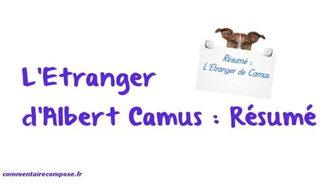Resume L Etranger by Resume L Etranger