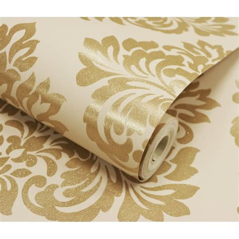 gold wallpaper b and m beautiful cream and gold wallpaper