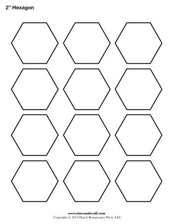 hexagon puzzle template hexagon template 2 inch tim s printables
