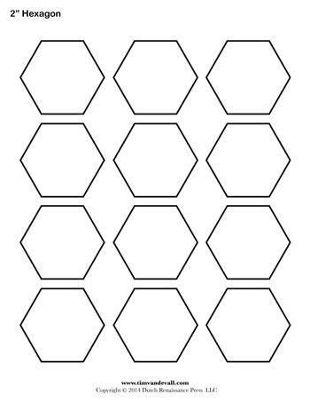 Hexagon Template   2 inch   Tim's Printables