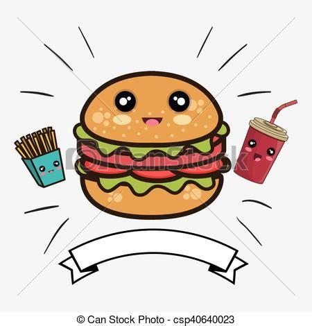 imagenes de hamburguesas kawaii kawaii hamburguesa caricatura kawaii ribbon colorido