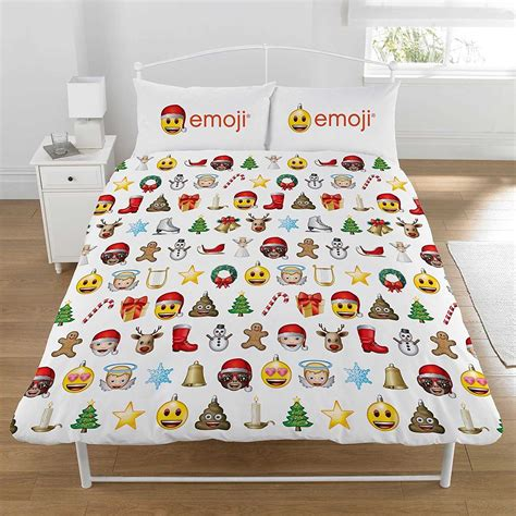 emoji quilt cover emoji christmas double duvet cover set characterlinens