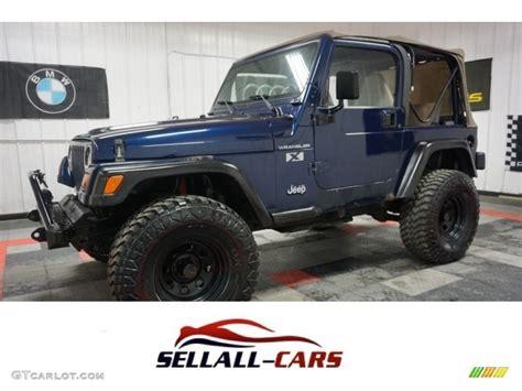 pearl jeep wrangler 2002 patriot blue pearl jeep wrangler x 4x4 114381919
