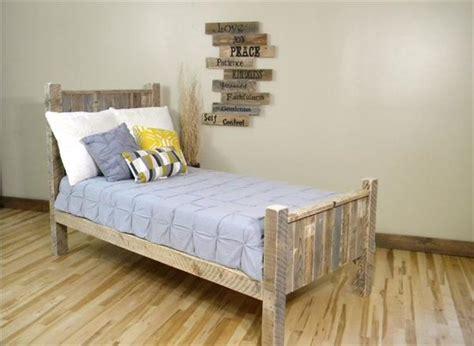 pallet bed plans diy pallet wood platform bed with wheels pallet