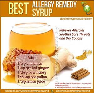 home made allergy remedy health