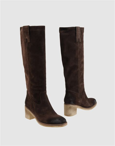 brown high heeled boots nana high heeled boots in brown lyst