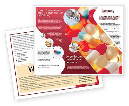 Pills In Collage Brochure Template Design And Layout Download Now 02319 Poweredtemplate Com Medication Brochure Templates Free