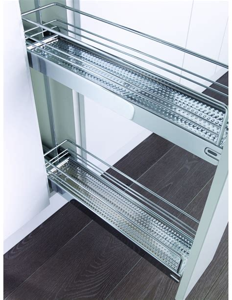 kesseböhmer base cabinet pull out storage kessebohmer narrow base pull out storage kbp150ch chrome