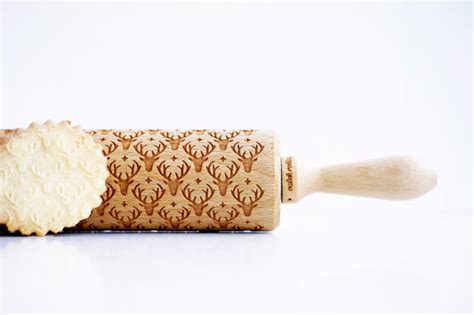 christmas pattern rolling pin christmas pattern reindeer embossing rolling by