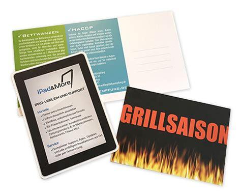 Postkarten Drucken Werbung by Gestaltung Und G 252 Nstiger Druck Werbe Postkarten