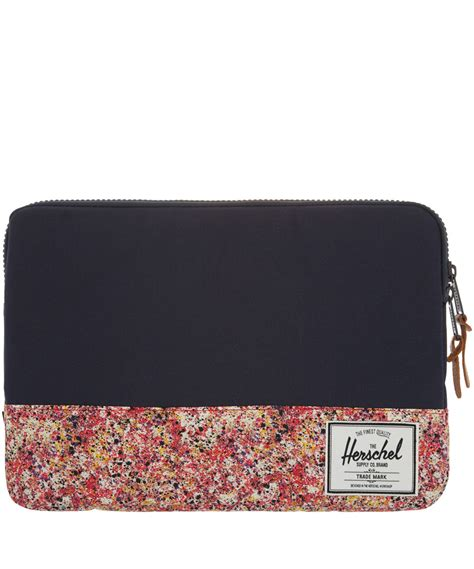 herschel supply co red seymour liberty print 13 inch