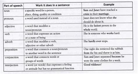 list 5 common sections that are included in a résumé grammatical terms teaching grammar