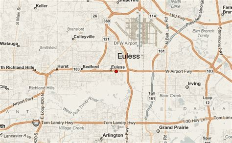 euless texas map euless location guide