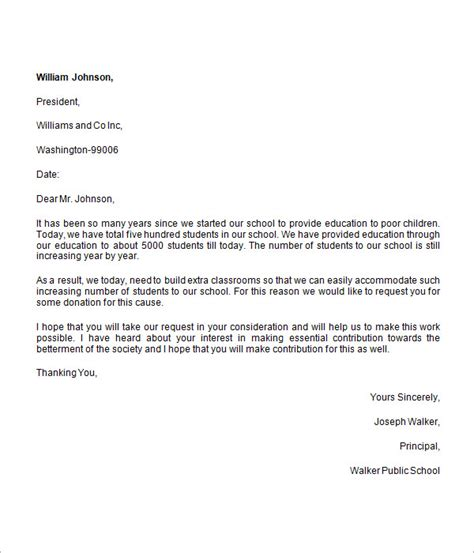 charity letter to business donation request letter 8 free for word