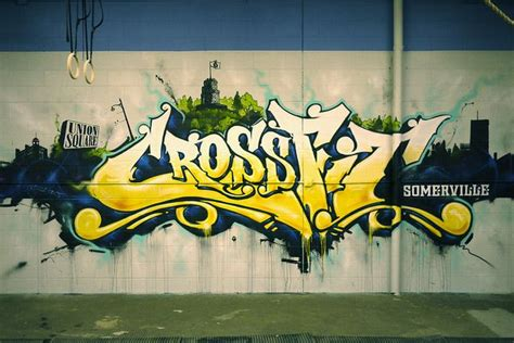 crossfit somerville gym art graffiti wall graffiti