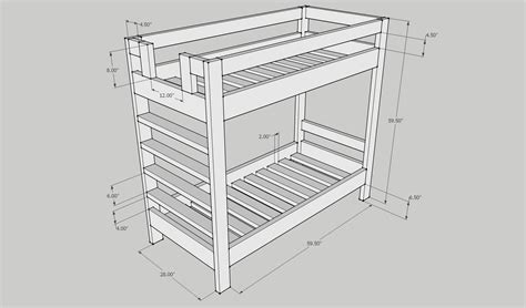 Bunk Bed Plans 2x4 2x4 Bunk Bed Plans Easy To Build Bed Plans These Bed Plans Require Minimal Equipment And Use