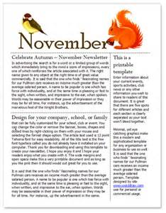 November Newsletter Template free november newsletter template for microsoft word by