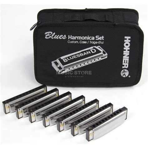 Bluss Set hohner 7 blues harmonica starter set