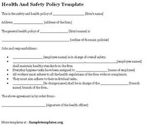 health and safety forms templates health and safety policy format of health and safety