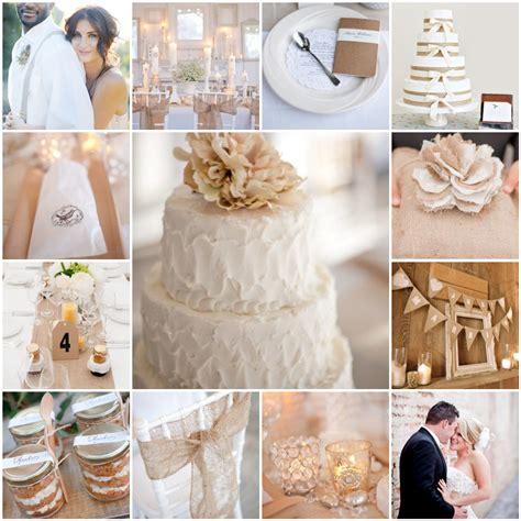 white and burlap wedding the blushing