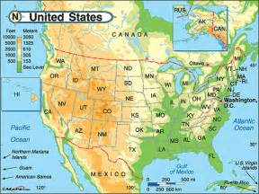 united states physical map by maps from maps