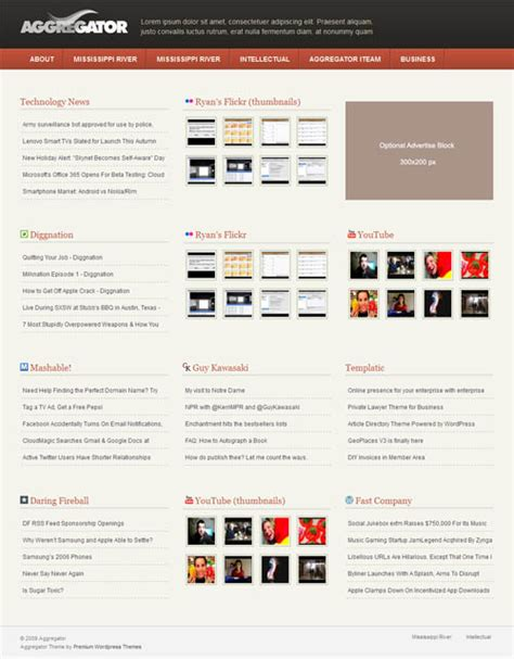 news aggregator template image collections templates