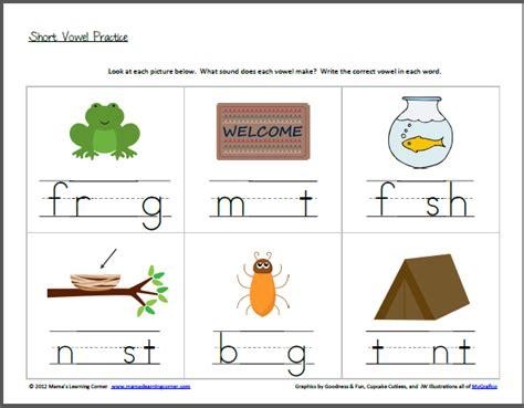 Vowel Sounds Worksheets For Kindergarten by Free Worksheets 187 Beginning Vowel Sounds Worksheets Free