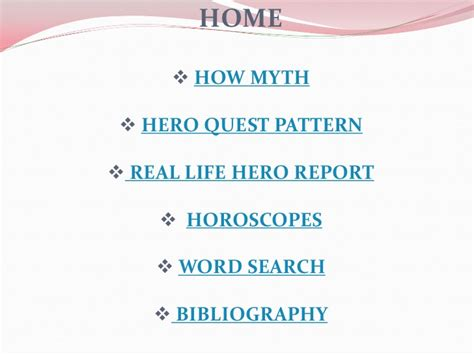 heroic quest pattern database mythology powerpoint